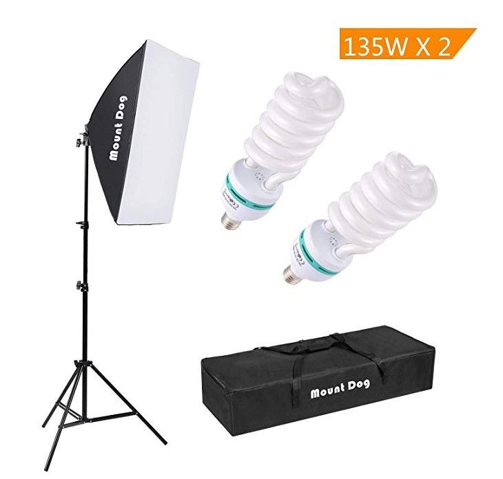 """Doing a simple search for """"photography lighting"""" on Amazon or eBay will bring you hundreds of options for lighting."""
